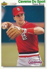 533 TODD ZEILE ST. LOUIS CARDINALS BASEBALL CARD UPPER DECK 1992