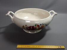 antigua Sopera de cerámica blanca deco flores sarreguemines digoin
