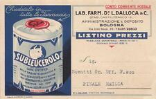 A9605) MEDICINALI, VETERINARIA, SUBLEUCEROLO, LABORATORIO FARMACEUTICO DALLOCA.