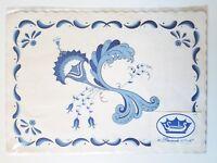 SCANDIA PAPER PLACE MATS Scandinavian Blue White Vintage NIP