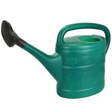 More details for 10l green plastic garden watering can bucket with rose sprinkler long mouth