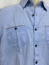 PaperDenim Cloth 14/16 Blue Dress Shirt Button Down Oxford Top 14 16 Western New