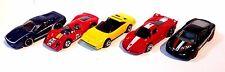 HOT WHEELS LOT OF 5 LOOSE CAR FERRARI P4 - FXX - F512M - F430 CHALLENGE- 308 GTS