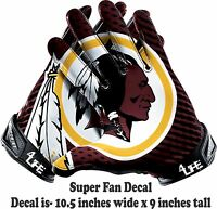 "Washington Redskins 4Life 10"" Car Truck Window Vinyl Glossy Glove Decal Stickers"