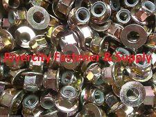 (50) M10-1.5 or 10mm Metric Hex Flange Stop Lock Nut / Nylon Insert DIN 6926 ZY