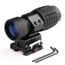 3X Magnifier Tactical Hunting Scope Sight W/ Flip To Side Rail Mount + Wrench