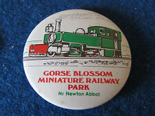 Vintage Button Badge - Gorse Blossom Miniature Railway Park