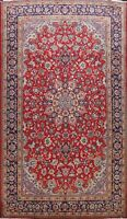 Vintage Floral Traditional Najafabad Area Rug Hand-knotted Oriental Carpet 9x14