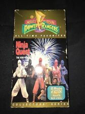 Rare Vintage 1996 Mighty Morphin Power Rangers Ninja Quest The Mini-Series VHS