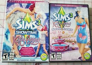 The Sims 3 Katy Perry Sweet Treats + The Sims 3 Showtime Katy Perry- Used
