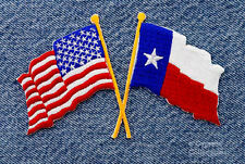 TEXAS STATE FLAG USA AMERICAN EMBROIDERED IRON-ON PATCH APPLIQUE highly detailed