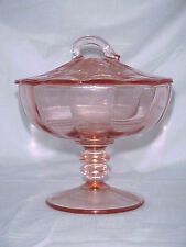 Paden City #300 Nora Bird Pink Footed Candy Dish