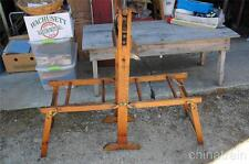 Antique Primitive Universal American Clothes Wringer Stand Wood Cast Iron B380E