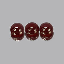 5mm 3pc Round CABOCHON Cut Natural Red Garnet