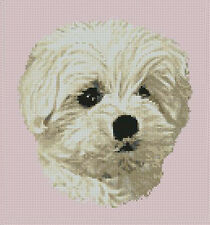 "Maltese Terrier Dog 3 Counted Cross Stitch Kit 9"" x 10"""