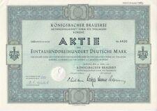 Königsbacher Brauerei AG vorm. Jos. Thillmann 1960 Koblenz  1300DM