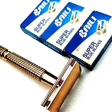 VICTORY SHAVER - DOUBLE EDGE SAFETY RAZOR - 30 BLADES INCLUDED