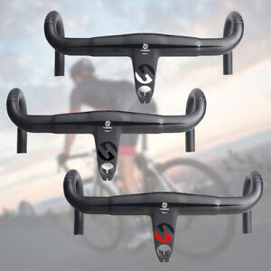UD Carbon Fiber Handlebar Road Bike Integrated Drop Bar Stem Racing Handlebar