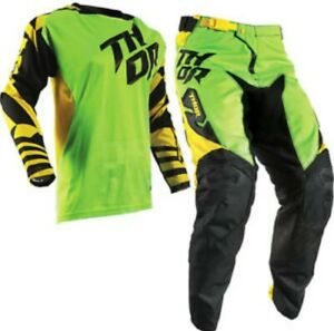 Brand New 26W/L Youth Thor Fuse Air Dazz Green/Yellow Motocross MX Kit Combo