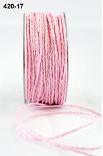 Paper Cord Ribbon -  May Arts - 420-17 - Pink - 5 yds.