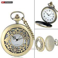 Reloj de Bolsillo Vintage Necklace Alicia en el país de las maravillas Cuarzo Colgante Regalo Antiguo Reino Unido