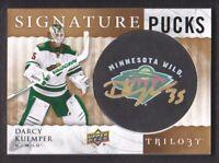 2014-15 Trilogy Signature Pucks #SP-DK Darcy Kuemper Auto Minnesota Wild