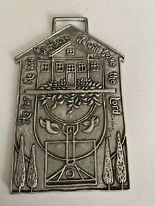 Tiny As For Me and My House We Will Serve The Lord Joshua 24:15 metal wall decor