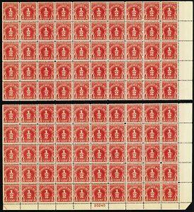 J69, 1/2¢ F/VF Sheet (split) of 100 Postage Due Stamps CV $950.00 - Stuart Katz