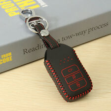 3 Buttons PU Leather Remote Key Case Cover For HONDA Civic Accord Odyssey CR-V