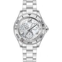 Invicta Women's 30367 Anatomic Quartz 3 Hand Silver Dial Watch