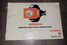 USED HONDA XL125 K2 PARTS LIST 1338223