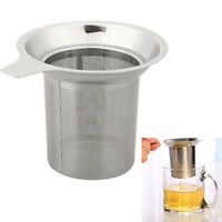 Stainless Steel Tea Leaf Filter Strainer Large Herbal Spice Infuser Colanders
