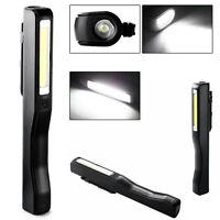 Portable COB LED Pen Light Inspection Work Light Magnetic Torch Flashlight Clip