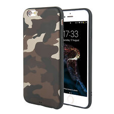 Camouflage Pattern Case Rubber TPU Silicone Cover For Apple iPhone 8 6s 7 Plus X