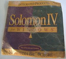 Solomon IV for Win' multi-media brochure