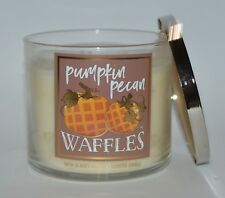 NEW BATH & BODY WORKS PUMPKIN PECAN WAFFLES SCENTED CANDLE 3 WICK 14.5OZ LARGE