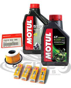 Honda CBR250RR MC22 MC19 Oil+OEM Filter + Spark Plugs service pack Motul 10w40