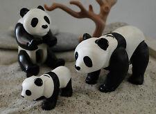 LES 3 PANDAS PANDA   PLAYMOBIL ANIMAUX ANIMAL  ZOO SAVANE