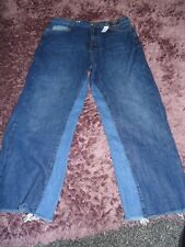 LADIES MARKS AND SPENCER LIMITED EDITION WIDE CROP JEANS, SIZE 12, REGULAR, BNWT