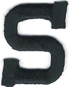 "1 "" Grand Noir Monogramme Bloc Lettre S Broderie Brassage"