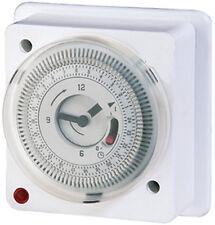 16 Amp Montaje al Ras de 24 horas de inmersión Temporizador de socket caja de tiempo de reloj