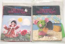 Vintage Doll Making Craft Kits AVON Creative Needlecraft Calico Kate House Mouse