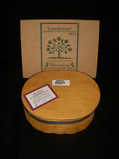 Longaberger 2000 Collectors Club Harmony #1 Basket & Lid Set - New in Box!