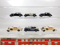 CA585-0,5# 6x Praline 1:87/H0 Oldtimer/PKW/Auto/Automobil Horch 853 A