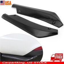 Car Universal Carbon Fiber Rear Bumper Lip Diffuser Splitter Canard Protector X2