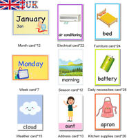 A-Z Educational Flash Cards Kids Educational Word Early Learning Practice Skills