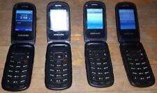 Lot of 4 Samsung Rugby 4 SM-B780W Black Unlocked Tough Jobsite Cellular Phone