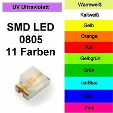 SMD LED 0805 in 11 Farben 1/10/25/50/100 Stück zur Auswahl Modellbau Hobby Beruf