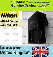 Genuino Original Cargador NIKON MH-24 P7700 D3100 D3200 D5100 D5200 P7000 P7100
