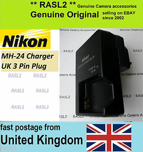 Genuine Original NIKON MH-24 Charger P7700 D3100 D3200 D5100 D5200 P7000 P7100